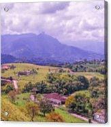 Home Town Mountains Acrylic Print