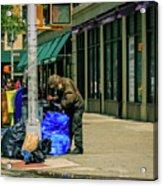 Homeless In Nyc Acrylic Print