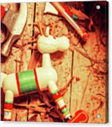 Homemade Christmas Toy Acrylic Print