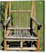 Homemade Lawn Chair Acrylic Print