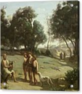 Homer And The Shepherds In A Landscape Acrylic Print