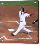 Homerun Swing Acrylic Print by Kevin Fortier