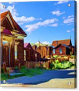 Homes Of The Past Acrylic Print