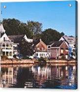 Homes On Kennebunkport Harbor Acrylic Print