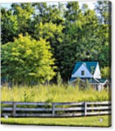 Small Farm Homestead Acrylic Print