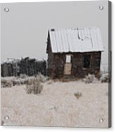 Homestead In Winter - Circa 1856 Acrylic Print