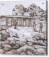 Homestead On Brush Creek Historical Vignette Acrylic Print