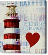 Hometown Bahamas Lighthouse Acrylic Print