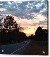 Homeward Bound Evening Sky Acrylic Print