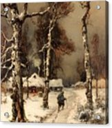 Homeward Through The Winter Forest Acrylic Print