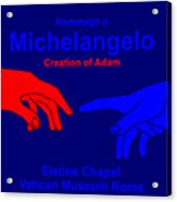 Hommage A Michelangelo  Acrylic Print
