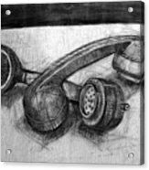 Homoerotic Phones Acrylic Print by Richard Mclean