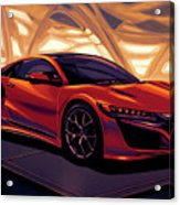 Honda Acura Nsx 2016 Mixed Media Acrylic Print