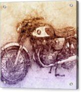 Honda Cb77 - Honda Motorcycles 2 - Motorcycle Poster - Automotive Art Acrylic Print