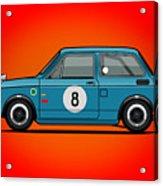 Honda N600 Blue Kei Race Car Acrylic Print