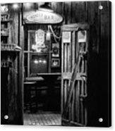Hondos Bar In Luckenbach Texas Acrylic Print