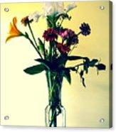 Honey Creek Flowers Acrylic Print by Tom Zukauskas