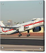 Honeywell Boeing 757-225 N757hw Phoenix Sky Harbor January 14, 2016 Acrylic Print