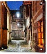 Honfleur Street At Night Acrylic Print