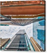 Hong Kong Buildings Colour Acrylic Print