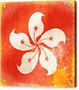 Hong Kong China Flag Acrylic Print by Setsiri Silapasuwanchai