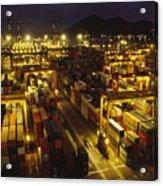 Hong Kong Container Terminal, One Acrylic Print