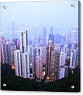 Hong Kong Skyline Acrylic Print by Ray Laskowitz - Printscapes