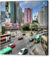 Hong Kong Traffic Acrylic Print
