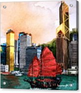 Hong Kong Acrylic Print by V  Reyes