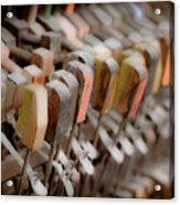 Honky Tonk Piano Keys Acrylic Print by Keith Sanders