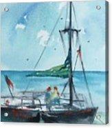 Honolulu Catamaran Acrylic Print