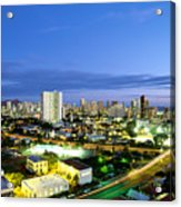 Honolulu City Lights Acrylic Print
