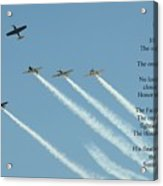 Honor Flight- Missing Man Formation Acrylic Print