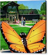 Honor Heights Butterfly House Acrylic Print