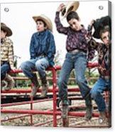 Honoring A Fallen Cowboy Acrylic Print