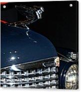 Hood Ornament-1938 Cadillac V-16 Town Sedan Acrylic Print