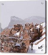 Hoodoos In Snow Acrylic Print