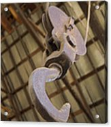 Hook And Pulley Acrylic Print
