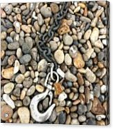 Hook, Chain And Pebbles Acrylic Print
