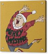 Hooray Hooray It's Ugly Sweater Day Acrylic Print