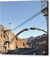 Hoover Dam Bypass Highway Under Construction Acrylic Print