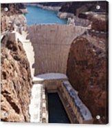 Hoover Dam II Acrylic Print by Ricky Barnard