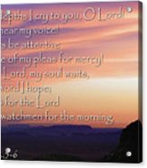 Hope For Morning Acrylic Print