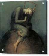 Hope Acrylic Print by George Frederic Watts