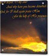 Hope In God Acrylic Print