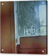 Hope In Prison Door Acrylic Print