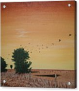 Hope Road With Black Birds Acrylic Print