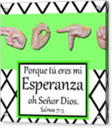 Hope Spanish - Bw Graphic Acrylic Print
