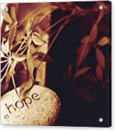 Hope Stone 1 Acrylic Print