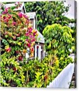 Hopetown Gardens Acrylic Print